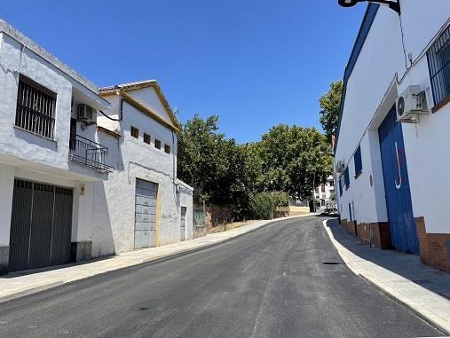 El Ayuntamiento de Andújar culmina las obras de la calle Puerta de Córdoba.