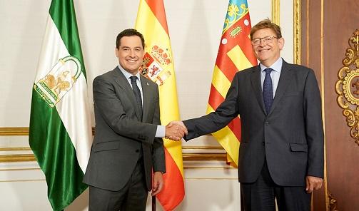 Andalucía y Comunitat Valenciana se unen por un sistema justo de financiación autonómica.