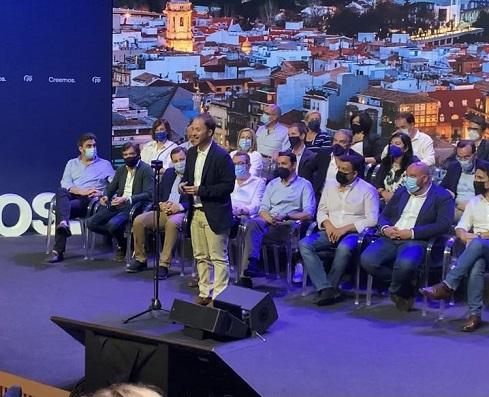 """Erik Domínguez defiende el gran potencial de la provincia y afirma que """"no descansaremos hasta que Jaén se levante brava""""."""