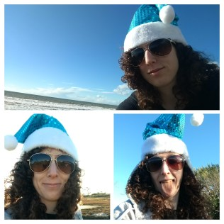 My floppy blue elf hat