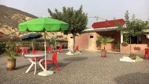 Die Terase vor dem Restaurant