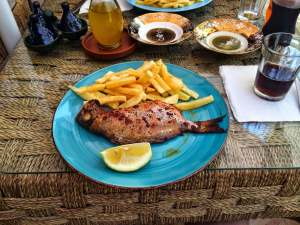 Delicious fish with fries