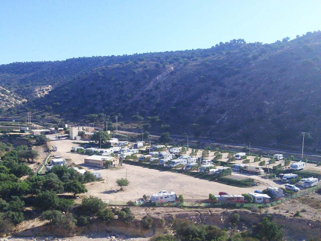 Camping Aourir – View from the surrounding Hills down to the Campsite!