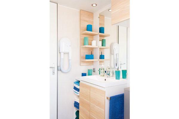 Mobilhome 2 chambres Casa Rhum, salle de douche