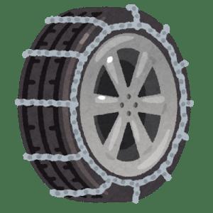 カムロードベースキャンピングカーの冬用タイヤチェーン