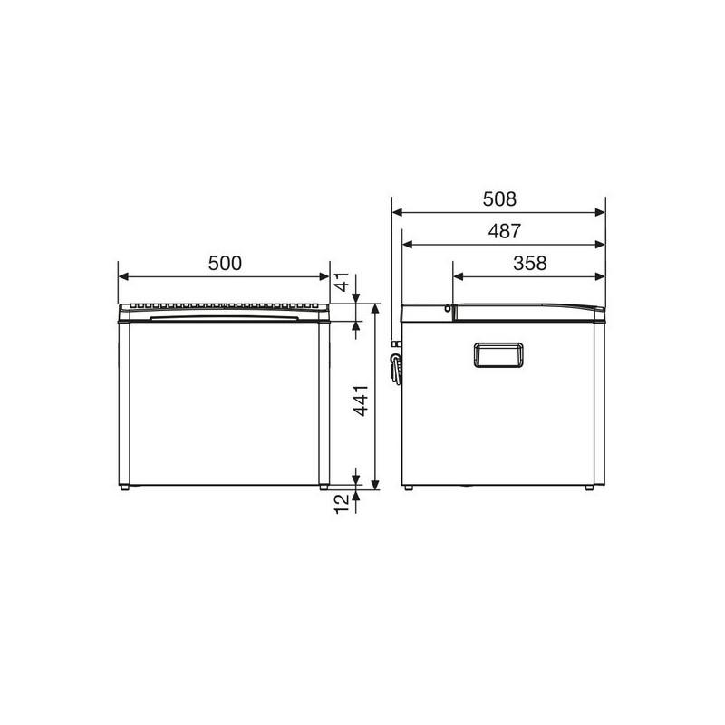 Ψυγείο CombiCool RC 1200 EGP, 12/230 Volts / αερίου 30 mb