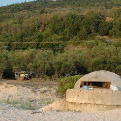 Camp Livadh, 2011 noch grosser, schattiger Olivenhain