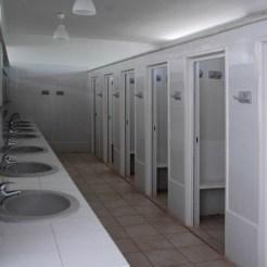 Ausreichend Waschplätze