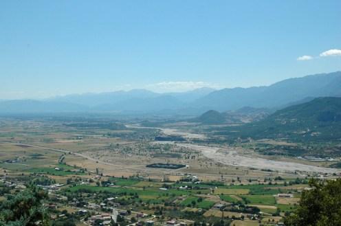 Blick ins Tal, Fluß Pinios