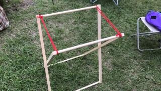 【木工DIY】キャンプ・アウトドアで使う折りたたみゴミ箱ラックを自作するPart2【完成、そして子供のおもちゃへ編】