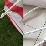 【公式HPの記載と届いたテントの仕様が異なる件】2017年モデルは自在金具が変更?! the Glam Camping(ザ・グラムキャンピング)のStrawberries and Cream Bell Tent