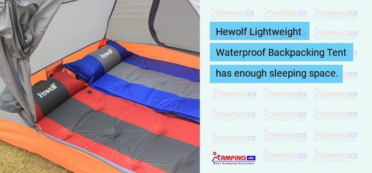 Hewolf Lightweight Waterproof Backpacking Tent review 2019