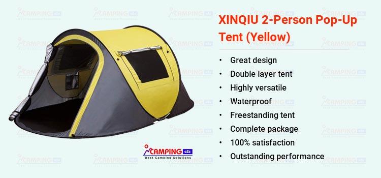 XINQIU 2-person pop-up camping tent