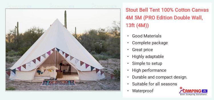 sale retailer e86d6 6435f Cotton canvas tent Stout bell 4M 5M (100% Cotton) Review 2019