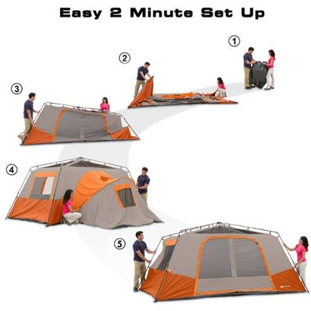 Ozark Trail 11 person tent setup