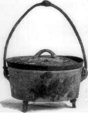 Dutch oven from the 1890s. Note the evidence o...