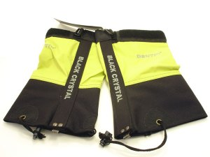 Green pair of snow gaiters