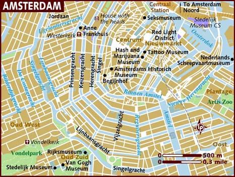 amsterdam sentrum kart Kart over Amsterdam   Campingbil.net amsterdam sentrum kart
