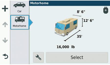 Kjør med tilpassede ruter for bobiler og campingvogner