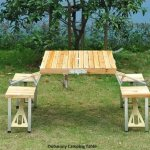 Outsunny Foldable Camping Table