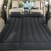 Sleeping in a car in mattress