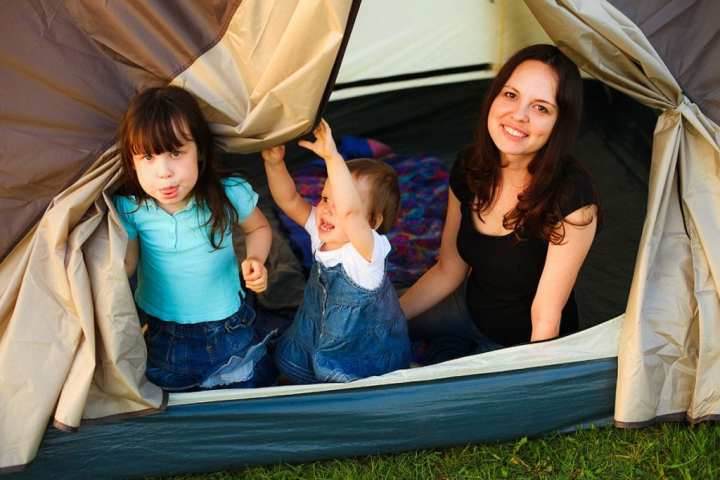Prevent baby overheating when camping 2