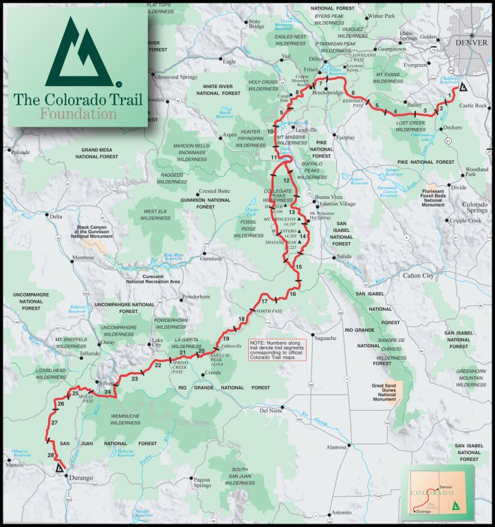Image result for colorado trail map