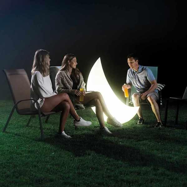 Halbmond LED-Lampe - aufblasbar und wasserdicht