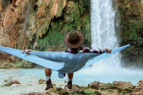 image of hammock camping