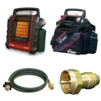 Image of safe tent heater for camping