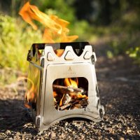 image of wood burning stove for camping