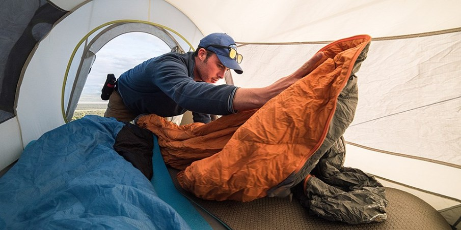 Image of most comfortable way to sleep in a tent