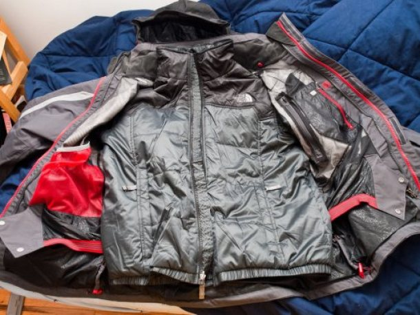Image of travel rain jacket