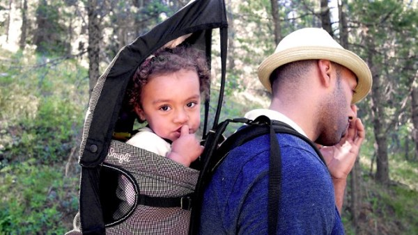 Image of hiking with baby