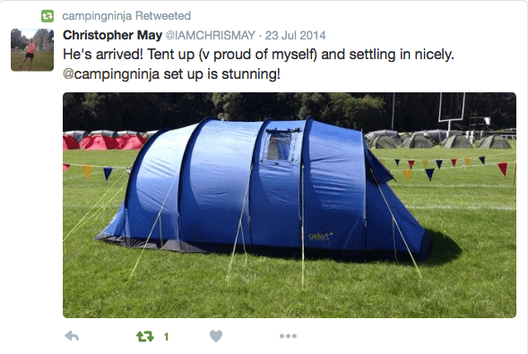 Campingninja Twitter Pic Review Glasgow 2014