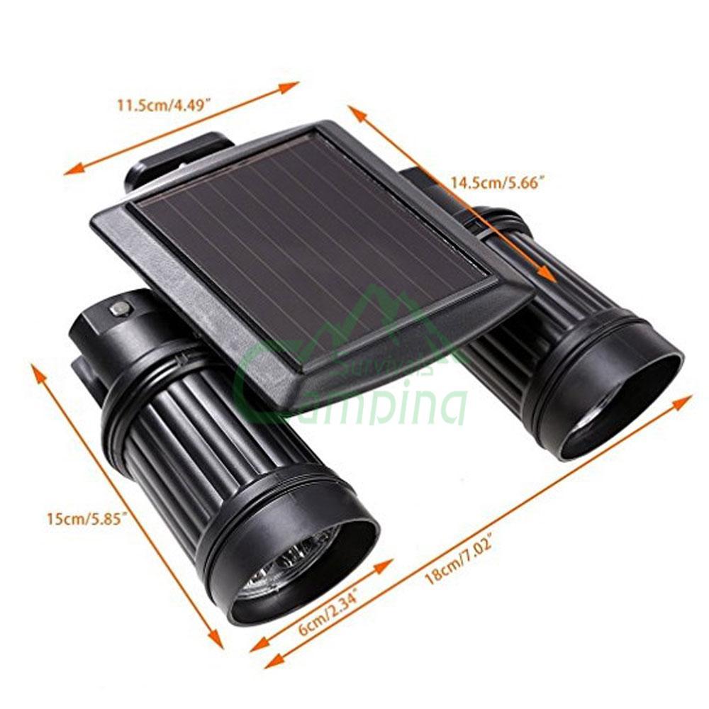 Outdoor 14 LED Solar Powered Dual Head Motion Sensor