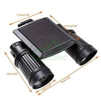 Outdoor 14 LED Solar Powered Dual Head Motion Sensor ...