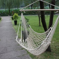 Rope Chair Swing Lime Green Accent Hammock Cotton Camping Hanging New Wooden