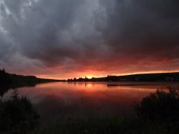 Lac de St Front - coucher de soleil