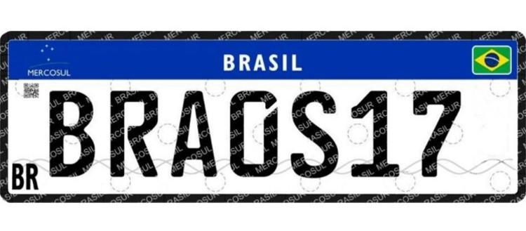 Como deve ficar a nova placa padrão Mercosul (Foto: Divulgação/Denatran)