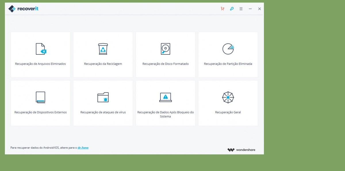Ao iniciar o programa, uma interface muito simples aparecerá e você terá algumas opções