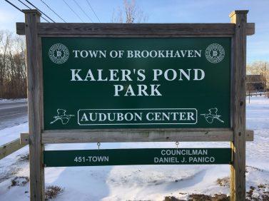 Kaler's Pond Park sign