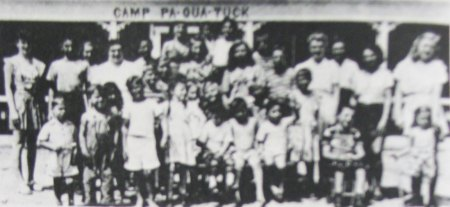 26 children afflicted with Polio at the first official session at Camp Pa-Qua-Tuck