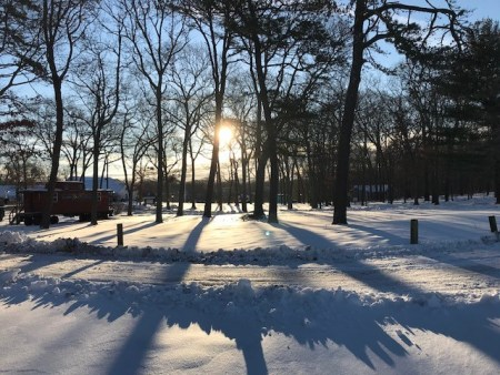 winter sun at the camp