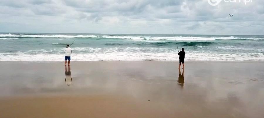 Airforce beach fishing