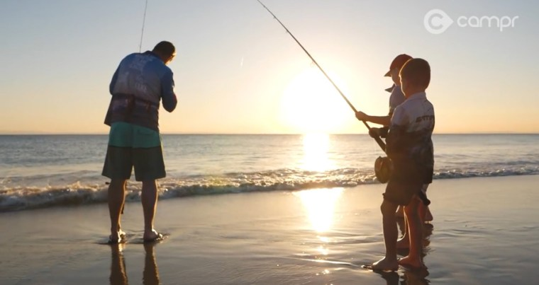 Moreton Island Beach Fishing