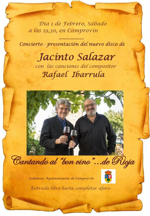 Concierto de Jacinto Salazar con las canciones del compositor Rafael  Ibarrula