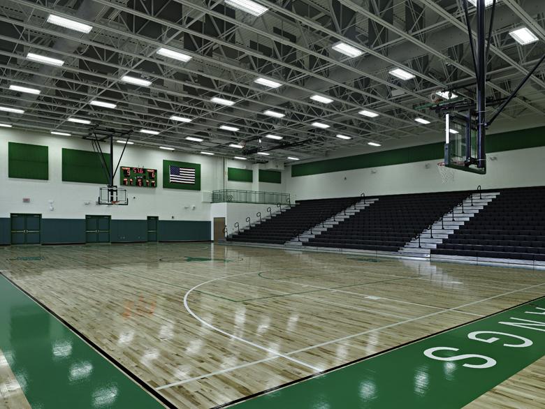 Myers Park High School Gymnasium Camps Construction