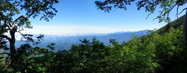 御嶽山登り道からの眺望