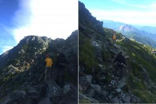 【UpDown】登りと下りでは、視界の広さがかなり変わる。登りは負担も大きいので注意も足元に行きがちだ(道の見つけ方より)。